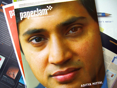 Aditya Mittal on the cover of the luxembourgish business magazine paperjam